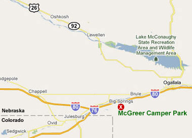 McGreer Camper Park map location